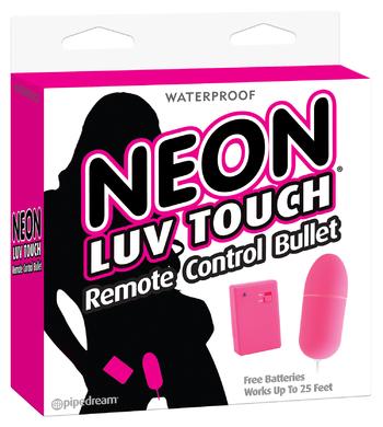 Виброяйцо на дистанционном управлении Neon Luv Touch Remote Control Bullet Pink