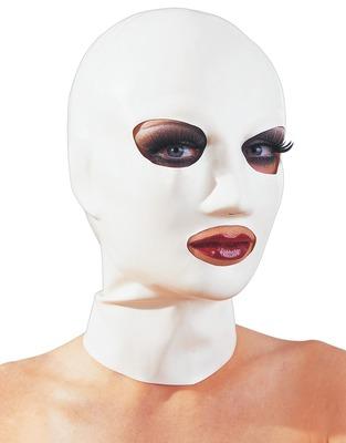 Белая латексная маска для головы