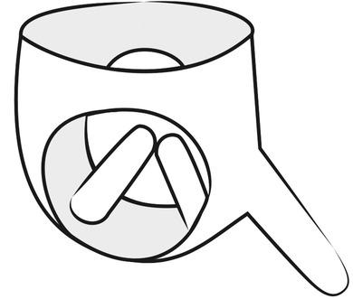Страпон на трусиках из латекса с вагинальной и анальной втулкой Latex Briefs S/L