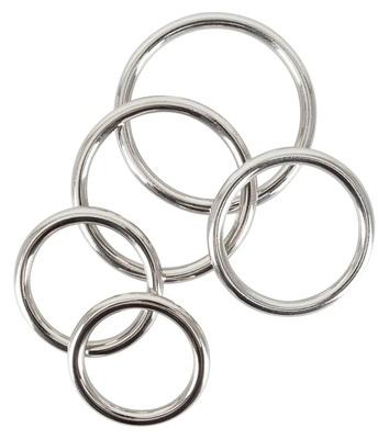 Набор эрекционных колец из стали Set of 5 Cock Rings