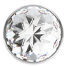 Анальная пробка Diamond Clear Sparkle Small