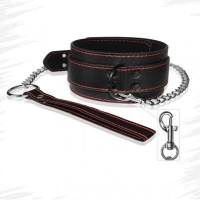 Ошейник с поводком Bondage Fetish Pleasure collar