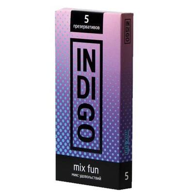 Презервативы Indigo Mix Fun микс удовольствий (5 шт)