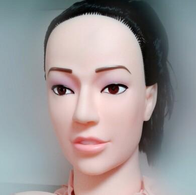 Любовная кукла-брюнеточка с реалистичными попкой и киской