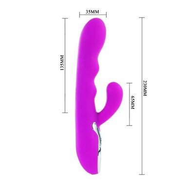 Вибромассажер с подогревом и клиторальным стимулятором