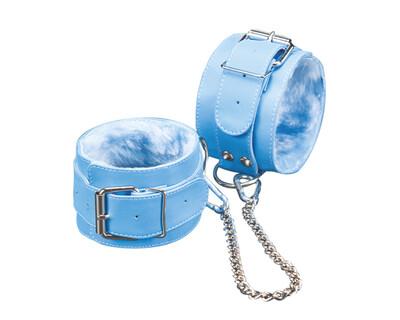 Голубые подковы с подкладкой из мягкого меха