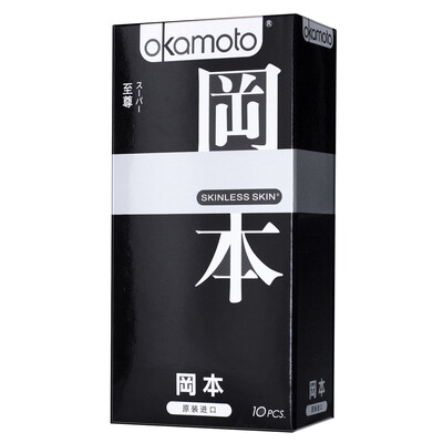 """Презервативы """"OKAMOTO SKINLESS SKIN"""" SUPER №10 (микс: классические,с двойной смазкой и ароматом ванили"""