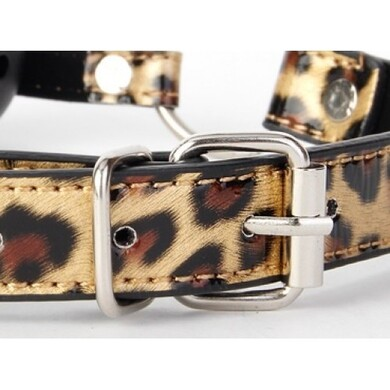 Леопардовый кляп-шар Gold