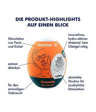 Мастурбатор-яйцо Satisfyer Masturbator Eggs Crunchy