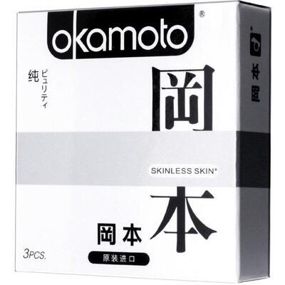 """Презервативы """"OKAMOTO SKINLESS SKIN"""" PURITY №3 (сверх-тонкие, сверх-чувствительные)"""