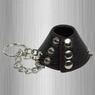 Утяжка для мошонки из искусственной кожи с цепочками