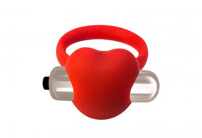 Эрекционное виброкольцо красное Flash Infinity