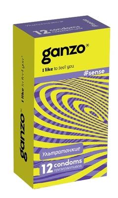"""Презервативы Ganzo """"sence"""" №12 (тонкие)"""