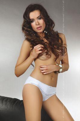 Очаровательные белые трусики Galena XL