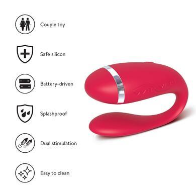 Вибратор для пар We-Vibe Special Edition красный на батарейках