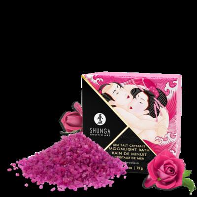 Соль мертвого моря для ванны с афродизиаками с ароматом розы Shunga Moonlight Bath Aphrodisia (75 г)