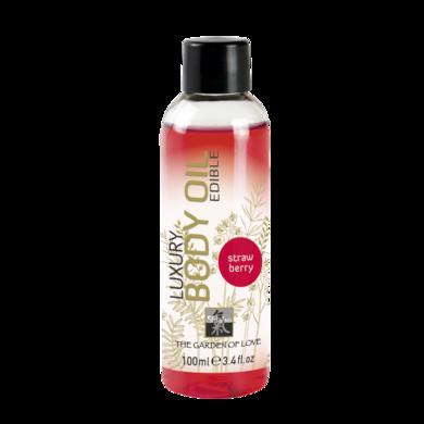Съедобное масло Shiatsu с ароматом Клубники (100 мл)