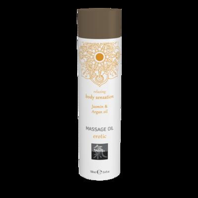 Массажное масло Shiatsu Massage oil erotic с ароматом жасмина и арганового масла (100 мл)
