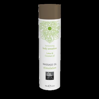 Массажное масло Shiatsu Massage oil erotic с ароматом лотоса и кокосового масла (100 мл)