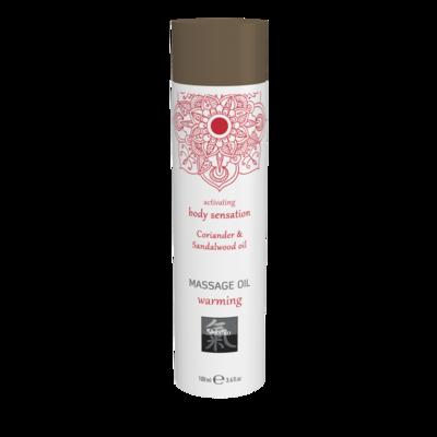 Согревающее массажное масло Shiatsu Massage oil erotic warming с ароматом кориандра и маслом сандала (100 мл)