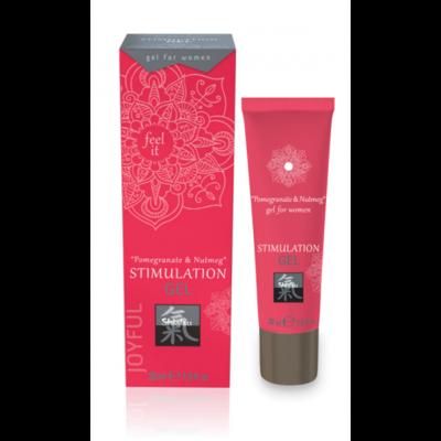 Стимулирующий гель для двоих Shiatsu Stimulation Gel Pomegranate & Nutmeg (30 мл)
