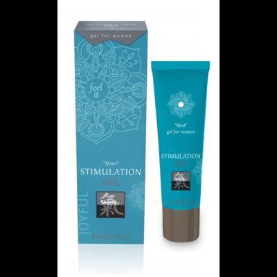 Стимулирующий гель для женщин Shiatsu Stimulation Mint (30 мл)