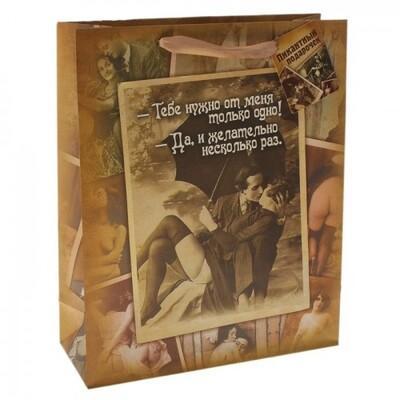 Пакет ламинированный «Желательно несколько раз» размер MS (18*23*10 см)