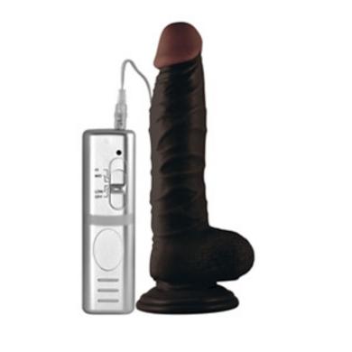 Реалистичный вибратор на присоске черный