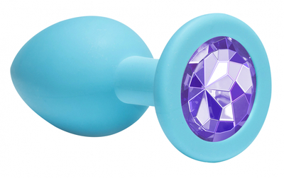 Пробка анальная Emotions Cutie Medium Turquoise light purple crystal