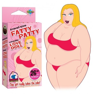 Мини-кукла для секса Travel Size Fatty Patty Blow Up Doll