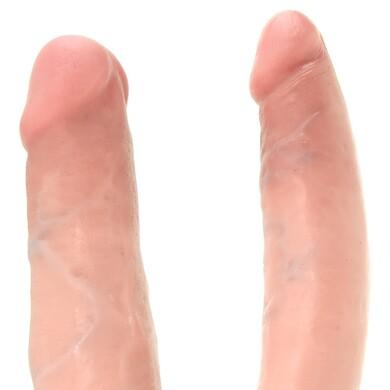 Двойной фаллоимитатор King Cock U-Shaped Medium Double Trouble Flesh