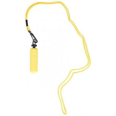 Вибро-пуля  желтого цвета на шнурке Neon Party Vibe Necklace