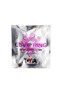 Эрекционное кольцо на пенис TOYFA розовое