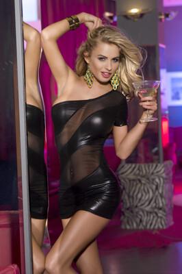 Клубное платье Candy Girl с открытым плечом, черное, OS
