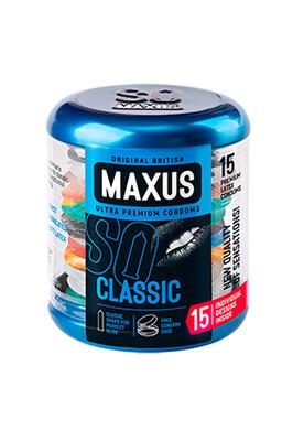 Презервативы Maxus классические в железном кейсе (15 штук)
