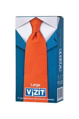 Презервативы латексные увеличенного размера VIZIT Large (12 шт)