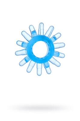 Эрекционное кольцо на пенис TOYFA голубое
