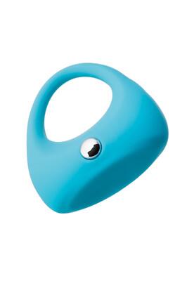 Эрекционное виброкольцо на пенис TOYFA A-Toys силиконовое голубое