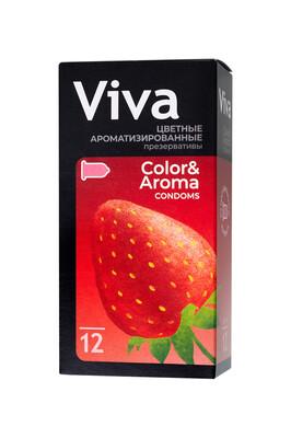 Презервативы латексные цветные ароматизированные VIVA (12 шт)