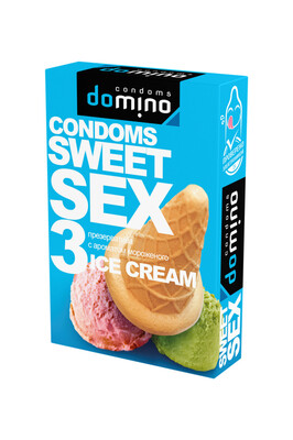 Оральные презервативы DOMINO SWEETSEX с ароматом мороженного (3 шт)