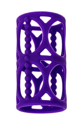 Насадка на пенис силиконовая TOYFA A-Toys фиолетовая 7,5 см