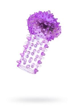 Вибронасадка на палец TOYFA фиолетовая 6,5 см