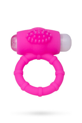 Эрекционное виброкольцо на пенис TOYFA A-Toys силиконовое розовое
