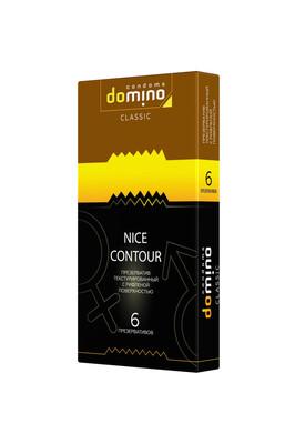 Презервативы с рифленой поверхностью Domino Nice Contour (6 шт)