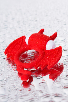 Эрекционное виброкольцо Jos Cocky Devil красное