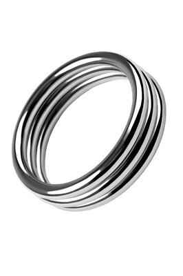 Широкое кольцо на пенис из металла D 4,5 см