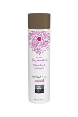 Массажное масло Shiatsu Sensual Индийская Роза и Масло миндаля (100 мл)