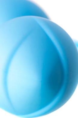 Вагинальные шарики A-Toys со смещенным центром тяжести голубые D 35 мм
