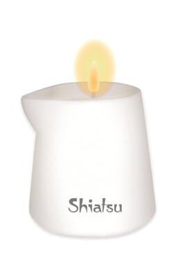 Массажная свечка Shiatsu с ароматом малины и ванильного крема (130 мл)