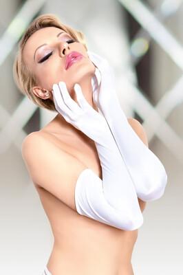 Перчатки белого цвета длинные SoftLine Collection, S/L